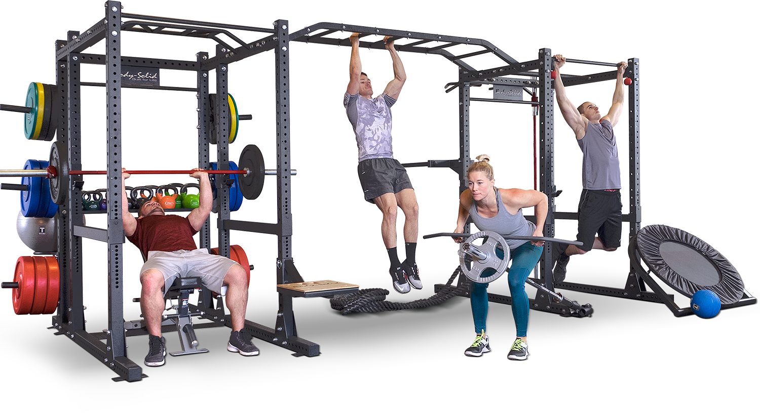 Body-Solid SPR1000 Power Rack completo